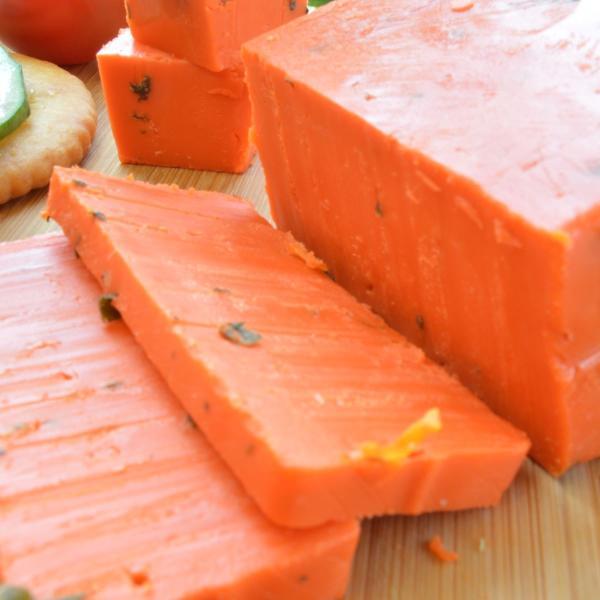 バジロン ロッソカット 約180g前後 オランダ産ゴーダチーズ ナチュラルチーズ  クール便発送 ピザ風味 おつまみ おやつ Basiron Rosso Gouda Cheese