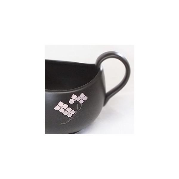 プレミアム会員 茶器 和食器 食器 湯冷まし 日本製 中 茶道具 黒泥桜 常滑焼 現品湯冷まし|akutsu-chaho|05