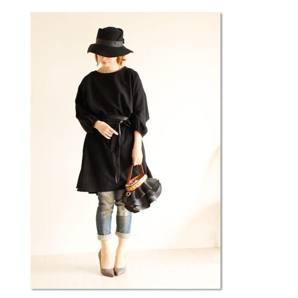 小物 無地 黒系 レディース レディス サワアラモード otona cawaii 洋服 30代 40代 50代 60代