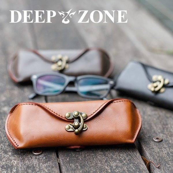 Deep Zone レザーメガネケース