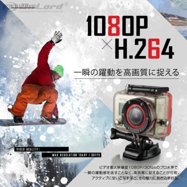 GoPro(ゴープロ)クラス ウェアラブルカメラ アクションカム (OL-101)  60m防水 WiFi機能|alba|02