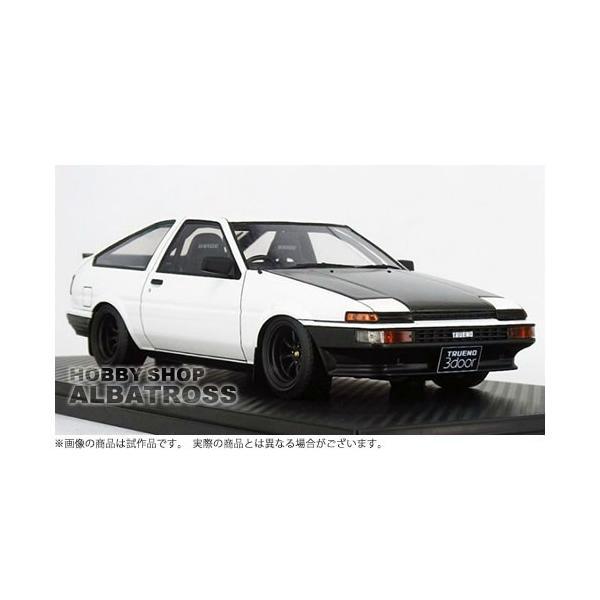 ignition model 1/18 Toyota Sprinter Trueno (AE86) 3Door GTV White [IG1056]