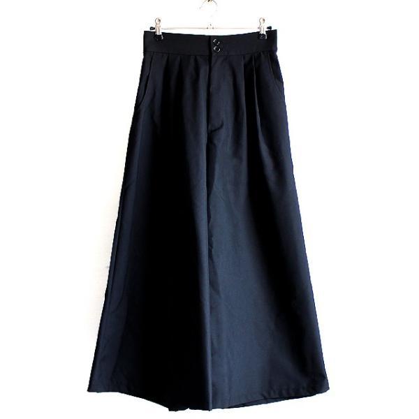 スカンツ マキシ丈 袴パンツ メンズ ガウチョ ワイドパンツ スカート モード系 日本製 国産 黒 ブラック オリジナル 個性的 中性的 ユニセックス レディース|albino|02