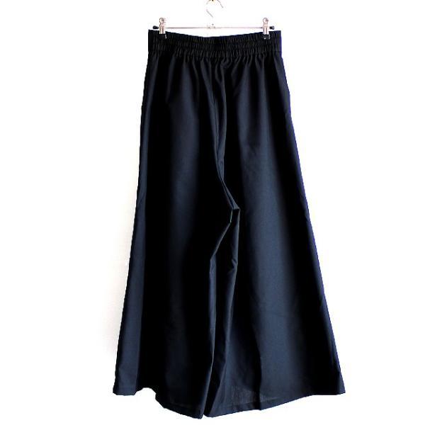 スカンツ マキシ丈 袴パンツ メンズ ガウチョ ワイドパンツ スカート モード系 日本製 国産 黒 ブラック オリジナル 個性的 中性的 ユニセックス レディース|albino|03