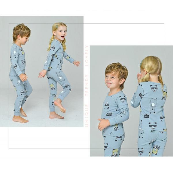 a8de046b4aecd2 ... 男の子 パジャマ 長袖 シンプルベア 80-160 薄手 綿100% 春 秋 冬ボーイズ ...