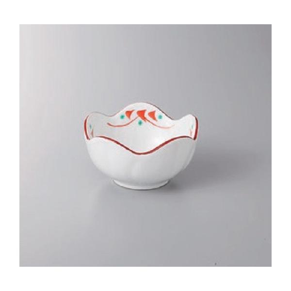 鉢 小鉢 赤絵小花梅型珍味