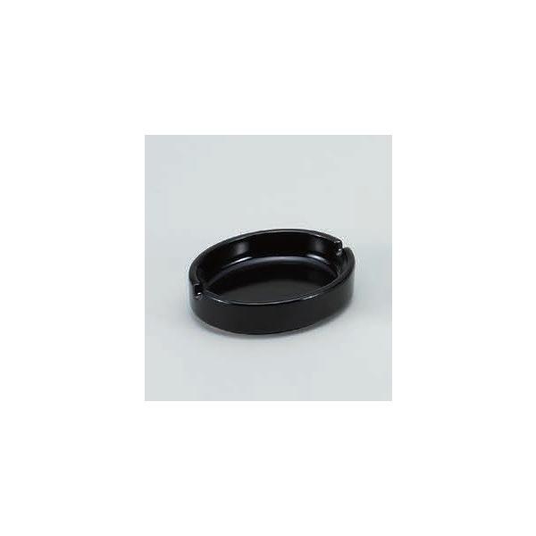 灰皿 ダ円灰皿(黒)陶器 アッシュトレイ 陶製