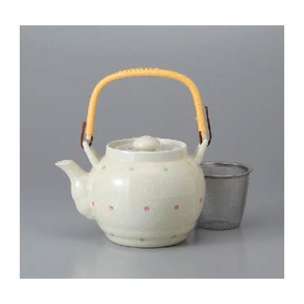 土瓶 急須 水玉8号土瓶 和食器 茶器 ティーポット 陶器|ale-y