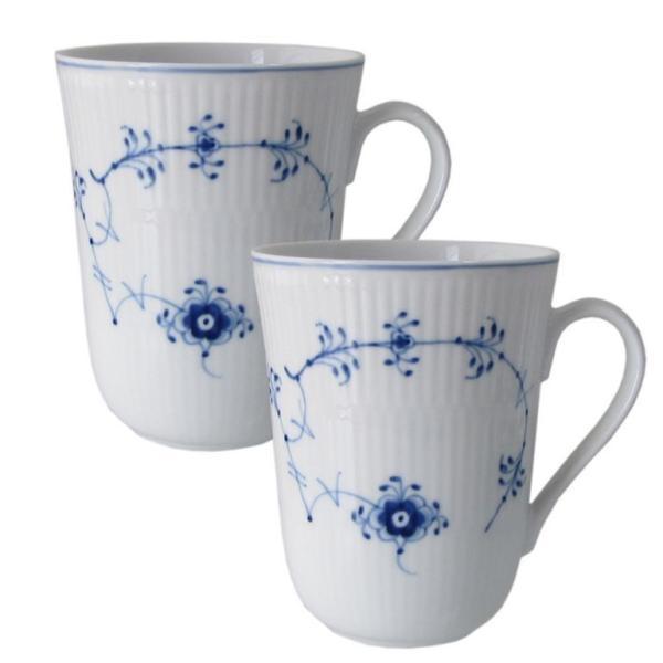 RoomClip商品情報 - ロイヤルコペンハーゲン ブルーフルーテッド プレイン マグカップ 330ml ペア 1111031 日本未発売