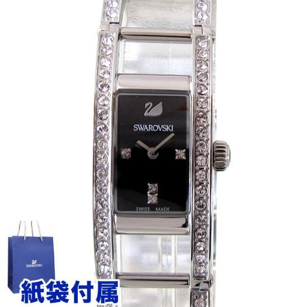 スワロフスキー SWAROVSKI 腕時計 レディース インディラ ブラック ステンレススチール ブレスレット ウォッチ 1186075|alevelshop