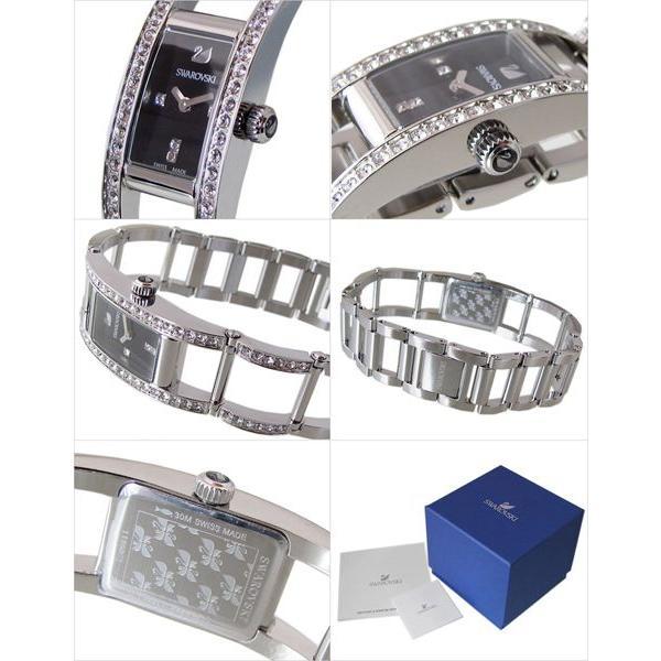 スワロフスキー SWAROVSKI 腕時計 レディース インディラ ブラック ステンレススチール ブレスレット ウォッチ 1186075|alevelshop|02