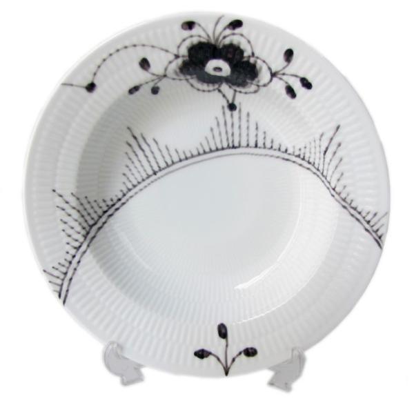 RoomClip商品情報 - ロイヤルコペンハーゲン ブラックフルーテッド メガ ディーププレート 深皿 パスタプレート パスタ皿 スーププレート 21cm 2541604