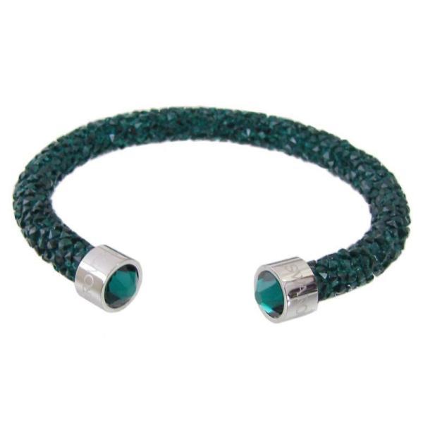 スワロフスキー SWAROVSKI バングル ブレスレット Crystaldust Sサイズ クリスタルダスト グリーン 5292919 母の日