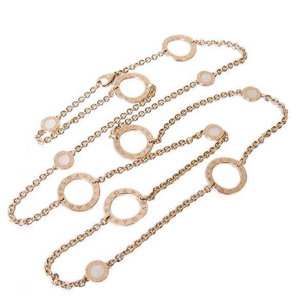 ブルガリ BVLGARI ネックレス ブルガリブルガリ ソートワールネックレス マザー・オブ・パール MOP 18K ピンクゴールド CL854859