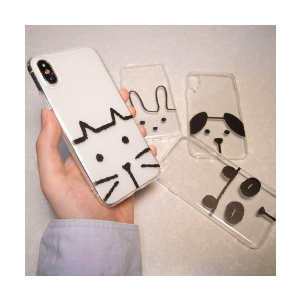 iPhone用 ソフトケース 動物さん ネコ イヌ ウサギ パンダ スマホケース iPhone6/6s/7/8/Plus/X ノンブランド|alice-sbs-y