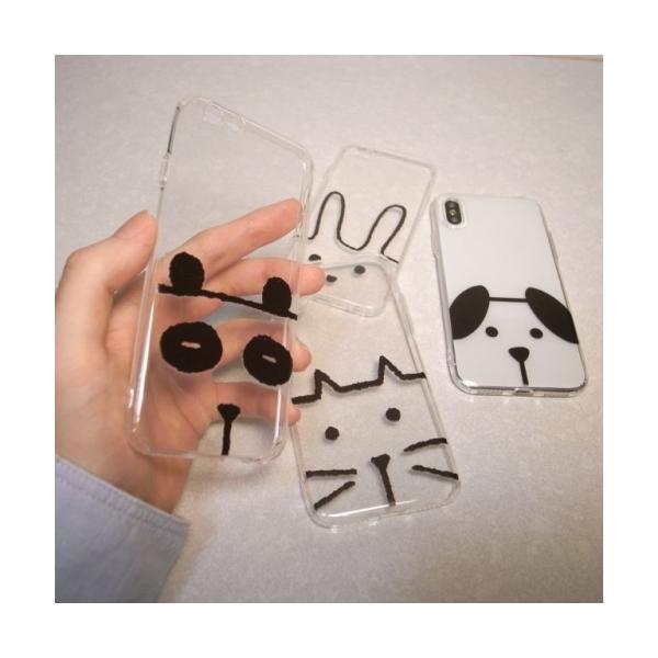 iPhone用 ソフトケース 動物さん ネコ イヌ ウサギ パンダ スマホケース iPhone6/6s/7/8/Plus/X ノンブランド|alice-sbs-y|02