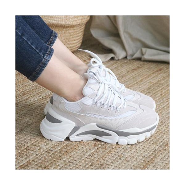 スニーカー レディース レースアップ スポーツ 春 ファッション 靴 婦人靴 グレー|alice-style