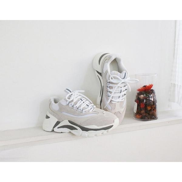 スニーカー レディース レースアップ スポーツ 春 ファッション 靴 婦人靴 グレー|alice-style|02