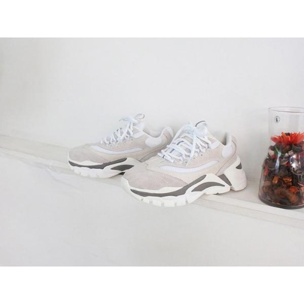 スニーカー レディース レースアップ スポーツ 春 ファッション 靴 婦人靴 グレー|alice-style|11
