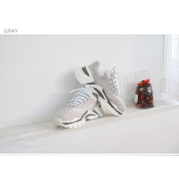スニーカー レディース レースアップ スポーツ 春 ファッション 靴 婦人靴 グレー|alice-style|12