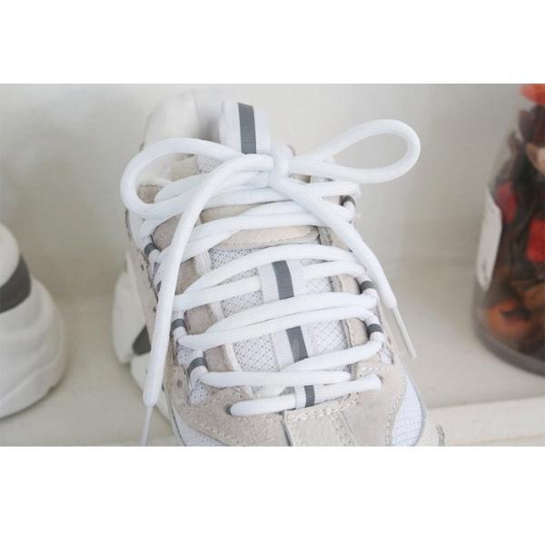スニーカー レディース レースアップ スポーツ 春 ファッション 靴 婦人靴 グレー|alice-style|13