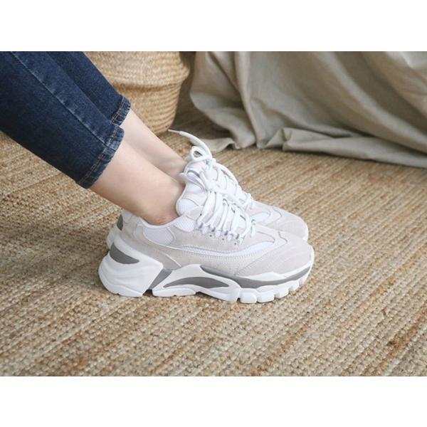 スニーカー レディース レースアップ スポーツ 春 ファッション 靴 婦人靴 グレー|alice-style|04