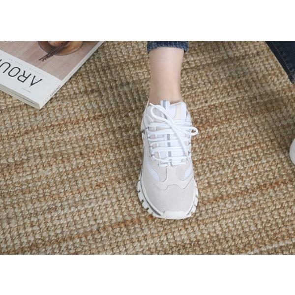 スニーカー レディース レースアップ スポーツ 春 ファッション 靴 婦人靴 グレー|alice-style|06