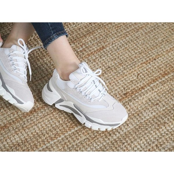 スニーカー レディース レースアップ スポーツ 春 ファッション 靴 婦人靴 グレー|alice-style|07