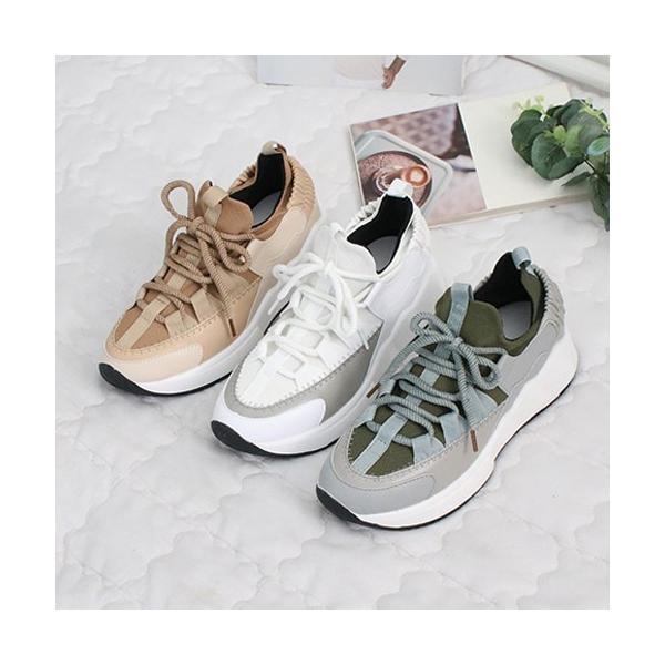 スニーカー レディース レースアップ スポーツ 春 ファッション 靴 婦人靴 白 ベージュ グレー|alice-style