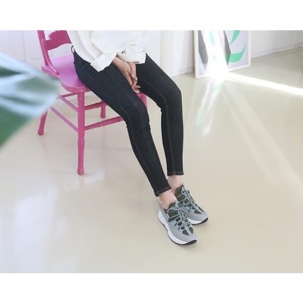 スニーカー レディース レースアップ スポーツ 春 ファッション 靴 婦人靴 白 ベージュ グレー|alice-style|11