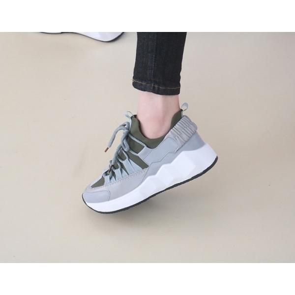 スニーカー レディース レースアップ スポーツ 春 ファッション 靴 婦人靴 白 ベージュ グレー|alice-style|12