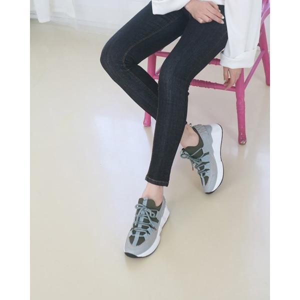 スニーカー レディース レースアップ スポーツ 春 ファッション 靴 婦人靴 白 ベージュ グレー|alice-style|13