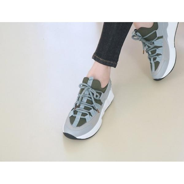 スニーカー レディース レースアップ スポーツ 春 ファッション 靴 婦人靴 白 ベージュ グレー|alice-style|15
