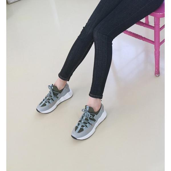 スニーカー レディース レースアップ スポーツ 春 ファッション 靴 婦人靴 白 ベージュ グレー|alice-style|16