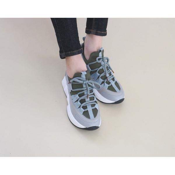 スニーカー レディース レースアップ スポーツ 春 ファッション 靴 婦人靴 白 ベージュ グレー|alice-style|17
