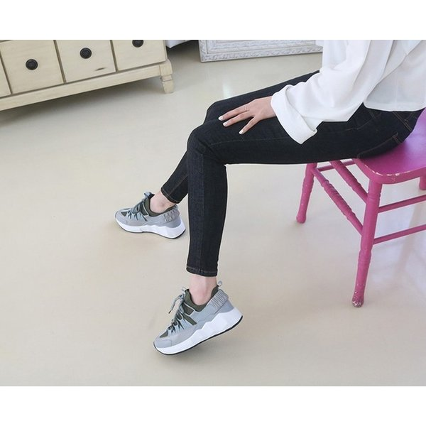 スニーカー レディース レースアップ スポーツ 春 ファッション 靴 婦人靴 白 ベージュ グレー|alice-style|18