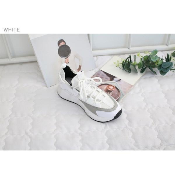 スニーカー レディース レースアップ スポーツ 春 ファッション 靴 婦人靴 白 ベージュ グレー|alice-style|20