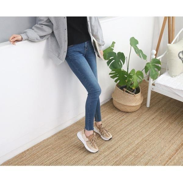 スニーカー レディース レースアップ スポーツ 春 ファッション 靴 婦人靴 白 ベージュ グレー|alice-style|03