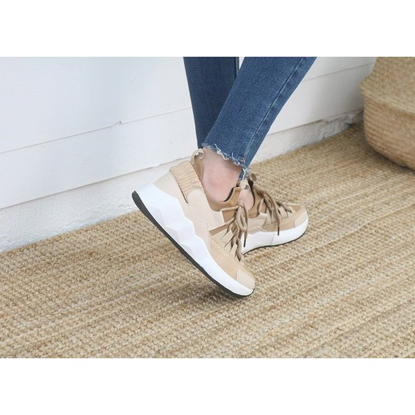 スニーカー レディース レースアップ スポーツ 春 ファッション 靴 婦人靴 白 ベージュ グレー|alice-style|04