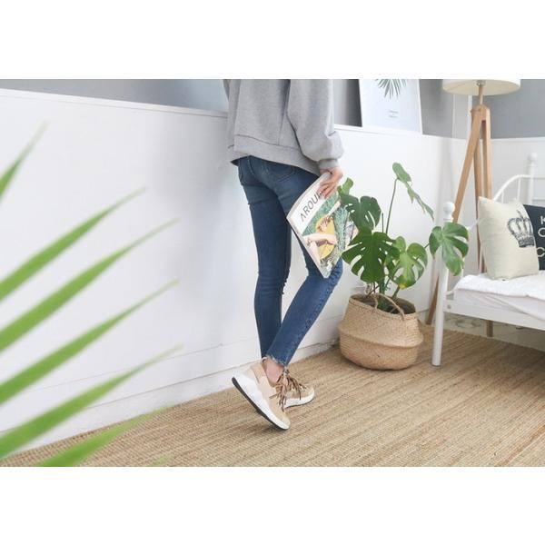 スニーカー レディース レースアップ スポーツ 春 ファッション 靴 婦人靴 白 ベージュ グレー|alice-style|10