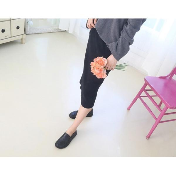 スリッポン レディース スニーカー レザー 本革 春 ファッション 靴 婦人靴 黒 白|alice-style|18