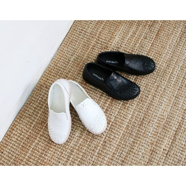 スリッポン レディース スニーカー レザー 本革 春 ファッション 靴 婦人靴 黒 白|alice-style|19