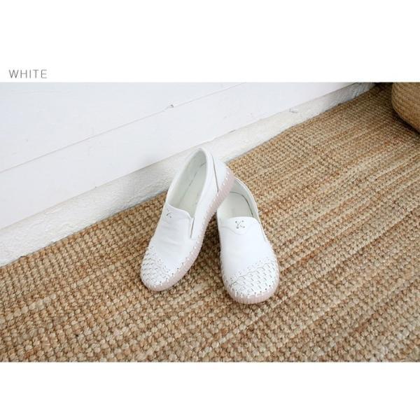 スリッポン レディース スニーカー レザー 本革 春 ファッション 靴 婦人靴 黒 白|alice-style|20