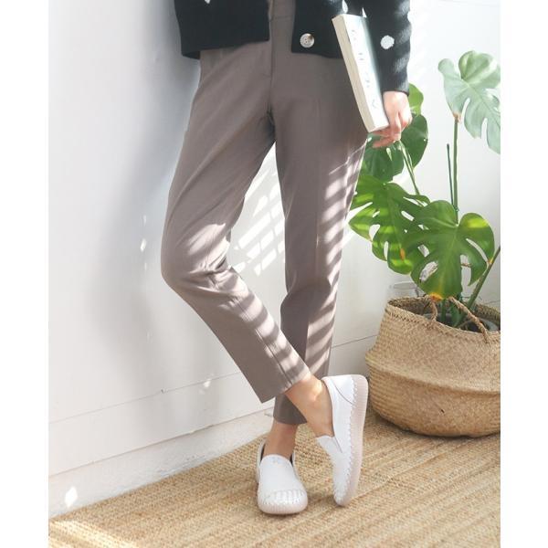 スリッポン レディース スニーカー レザー 本革 春 ファッション 靴 婦人靴 黒 白|alice-style|05
