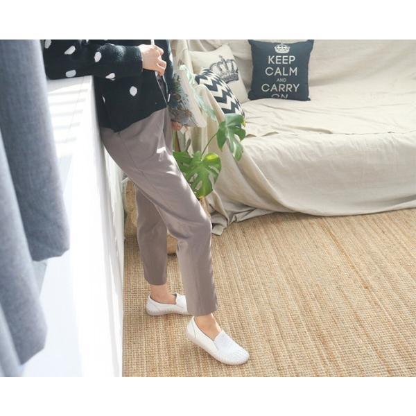 スリッポン レディース スニーカー レザー 本革 春 ファッション 靴 婦人靴 黒 白|alice-style|10