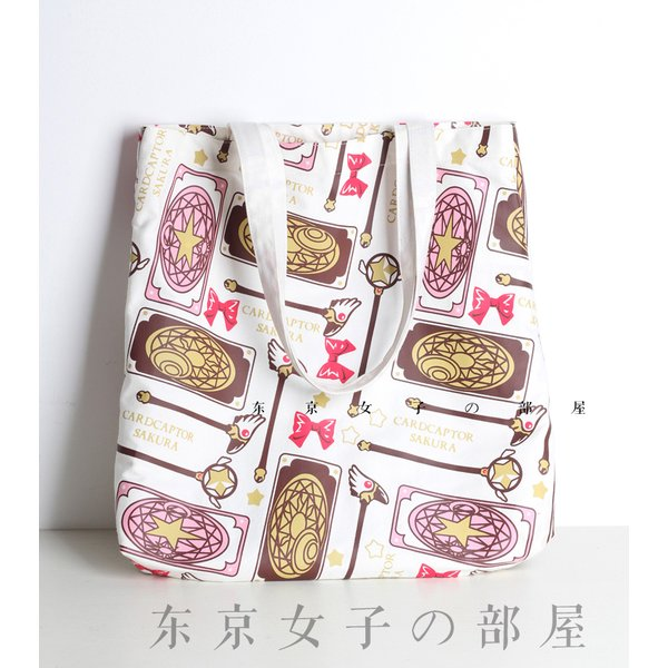 バッグ カードキャプターさくら トートバッグ レディース 星の杖 封印の杖 クロウカード アニメ 可愛い|alicedoll
