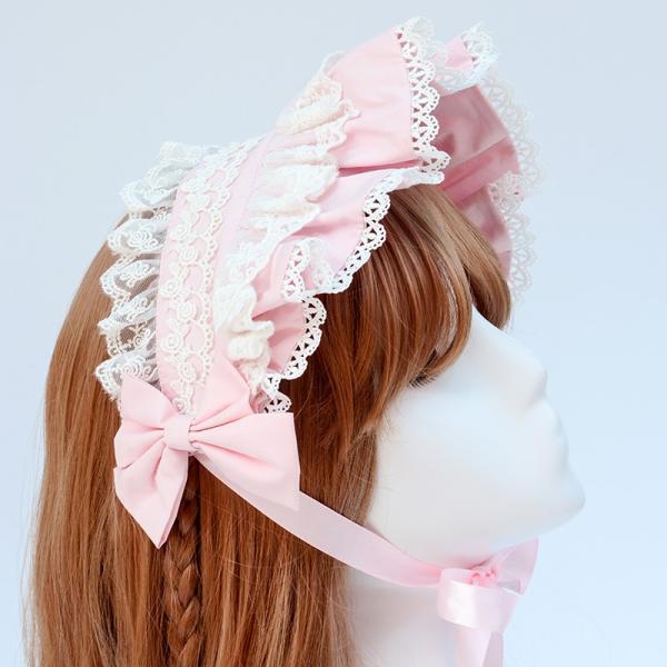 ロリータ へアバンド カチューシャ ヘッドドレス かわいい フリル 姫 豪華 ホワイト ピンク alicedoll 02