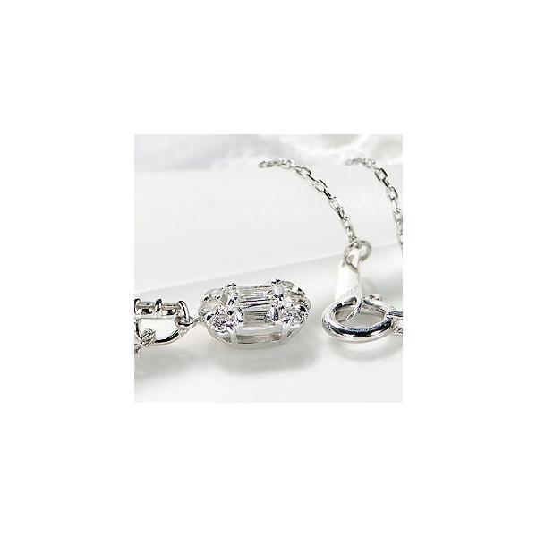 ダイヤモンド ネックレス バケットカット 18k 18金 ゴールド 0.2ct スクエア 長方形 ダイヤ ペンダント AL-0178|alisa|05