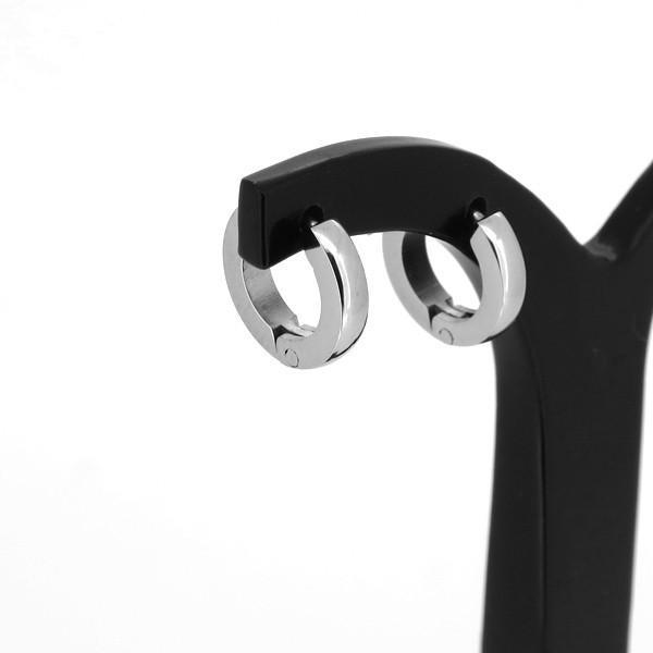 カラー フープピアス 2P 両耳用 カラーコーティング ピアス シルバー イヤリング サージカルステンレス プレゼント