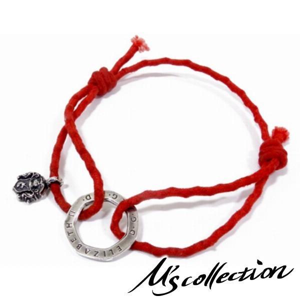 Ms collection ブレスレッド メンズ ブランド 2WAY レッドコード 紋章 アンクレット チョーカー エムズコレクション